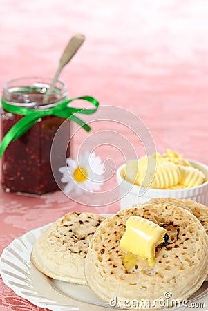 Free Crumpets & Jam Stock Photo - 8572400