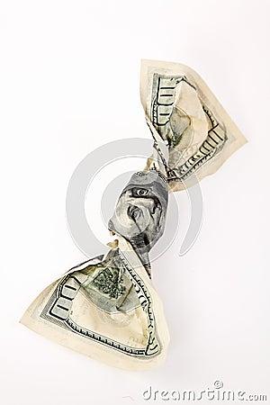 Crumpled $100 Bill