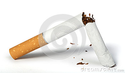 Crumpled cigarette