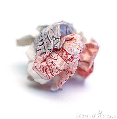 Crumpled Fifty Pound Note