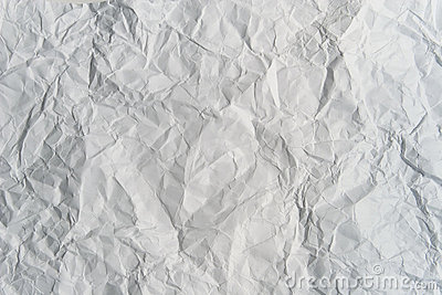 Crumpled light gray paper