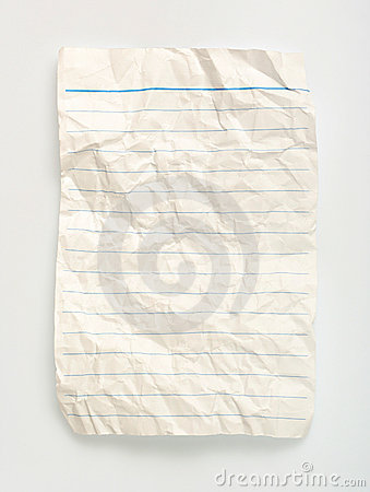 Crumpled  line paper