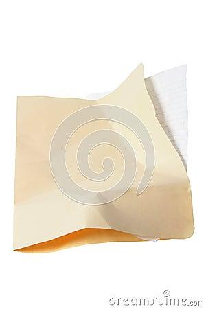 Crumpled Manila Folder