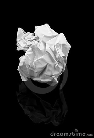 Crumpled Paper Ball Royalty Free Stock Photo - Image: 1474485