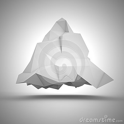 Crumpled pyramid