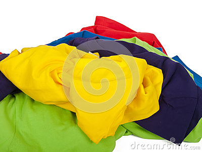 Crumpled t shirts