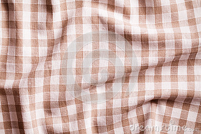 Crumpled tablecloth