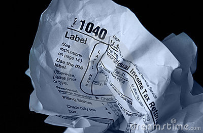 Crumpled tax form Editorial Image