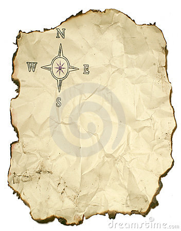Crumpled Up Compass Rose Stock Photography - Image: 290632