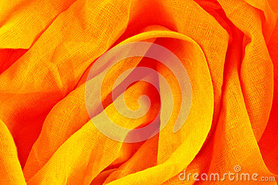 Crumpled yellow and orange fabric