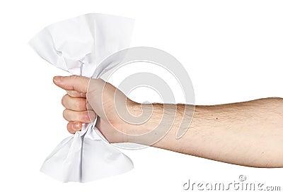 Crumpling sheet of paper