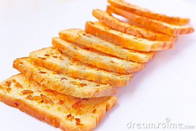 Crunchy bread with sugar