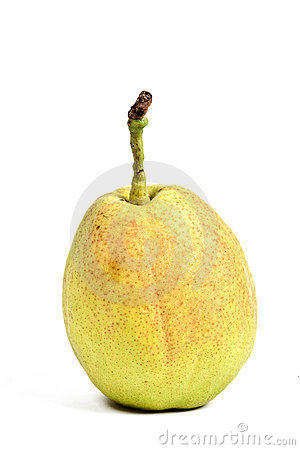 Crunchy chinese pear over white background