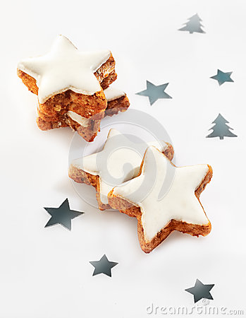 Crunchy Christmas star cookies