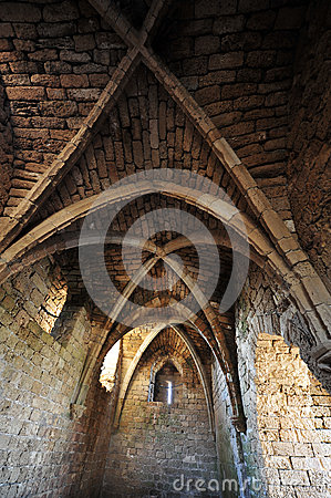 Free Crusader Arch Of Old Fortress Castle In Caesarea Royalty Free Stock Photos - 26150428