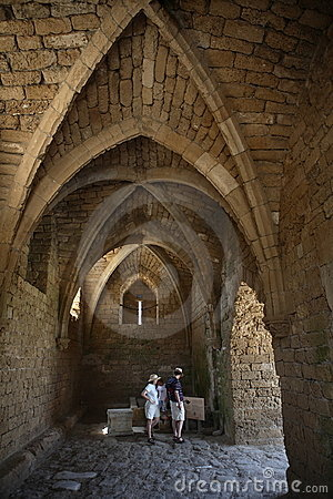 Crusader architecture in Caesarea, Israel