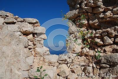 Crusader castle, Halki island
