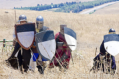 Crusaders attack Editorial Image
