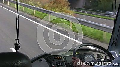 Cruscotto del bus video d archivio