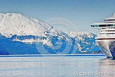A cruse ship in Alaska