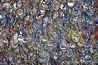 Crushed Aluminum Cans