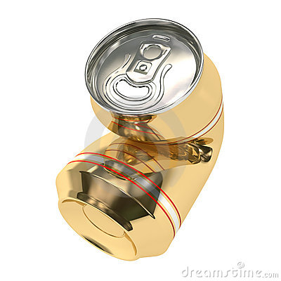 Crushed beer can 02