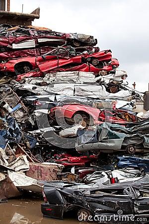 Crushed cars