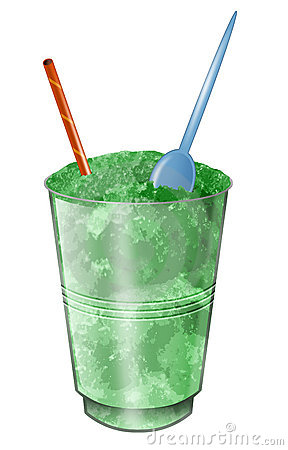 Crushed ice drink