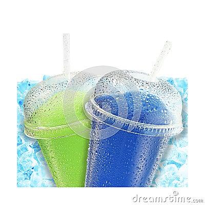 Crushed ice fruit refreshment