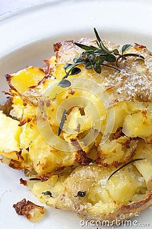 Crushed Roast Potatoes