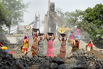 Crusher mine in India Editorial Photography
