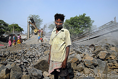 Crusher mine in India Editorial Photo