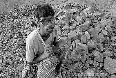 Crushers mine in India Editorial Photo