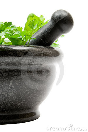 Free Crushing Herbs Royalty Free Stock Image - 3619196
