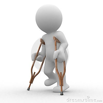 Free Crutch 3d Stock Image - 2496111