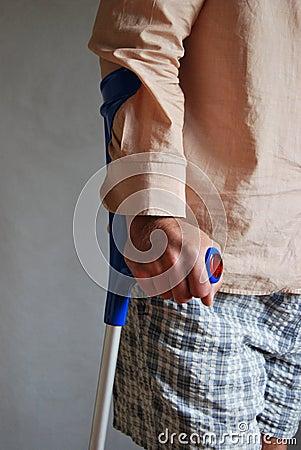 Free Crutches Royalty Free Stock Photo - 16355355