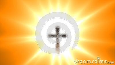 Cruz animada del hierro para Pascua almacen de video