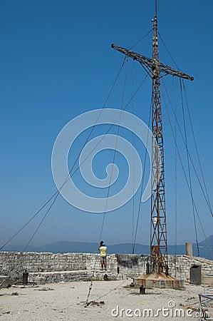 Cruz de la fortaleza vieja de Corfú
