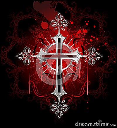 los caballeros de la noche de la cruz roja (YAOI) (yamachii etc ) Cruz-de-plata-g%C3%B3tica-22896849