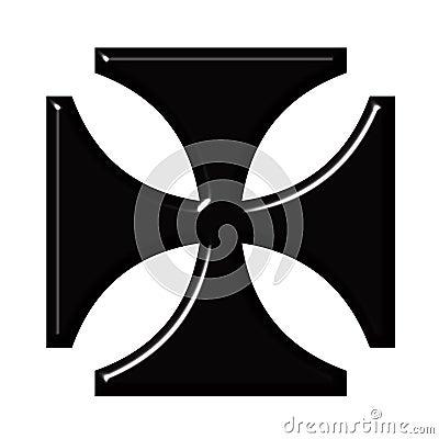 Cruz del alemán 3D