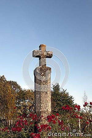 Cruz del borde de la carretera en Francia, Burdeos