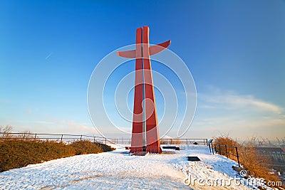 Cruz do milênio em Gdansk