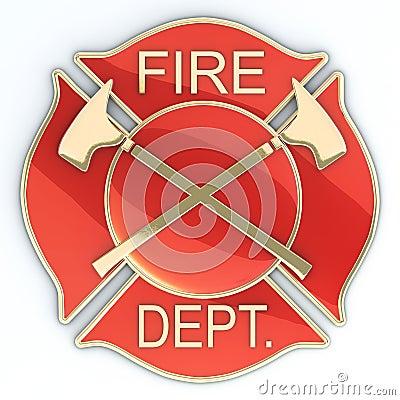 Cruz maltesa do departamento dos bombeiros