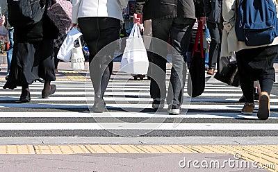 Cruzando a rua