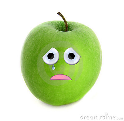Crying apple