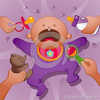 Free Crying Baby Royalty Free Stock Photos - 21260978