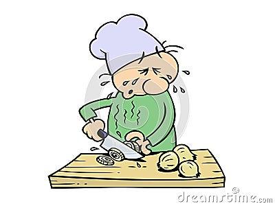 Crying chef