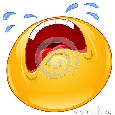 Free Crying Emoticon Royalty Free Stock Photos - 27501928