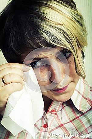 Crying girl.