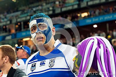 Crying rugby fan Editorial Image